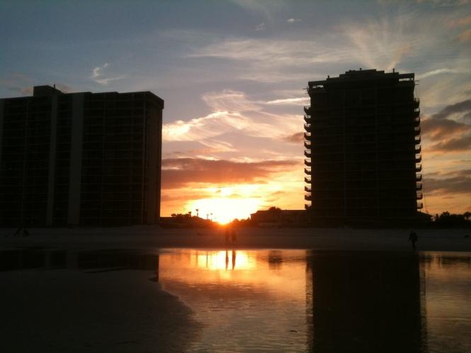 Jax Beach, sunset, January 1, 2013