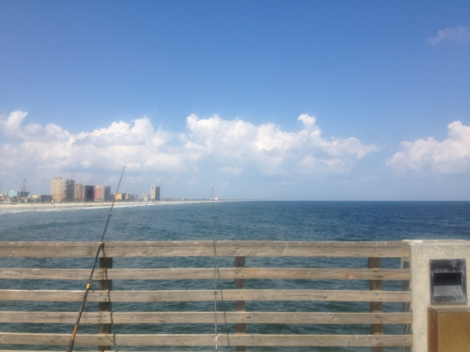 North Jax Beach, Neptune Beach, and Atlantic Beach, from the Jax Beach Fishing Pier