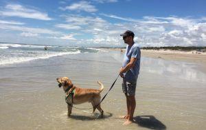 My beach walking companions, Hanna Beach, Jax, Spring 2015