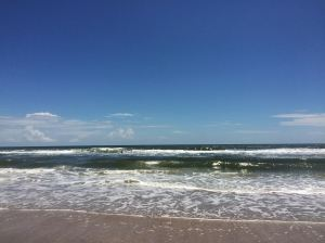 Hanna Beach, Jax (Jacksonville, FL) looking out at the Atlantic, Spring 2015